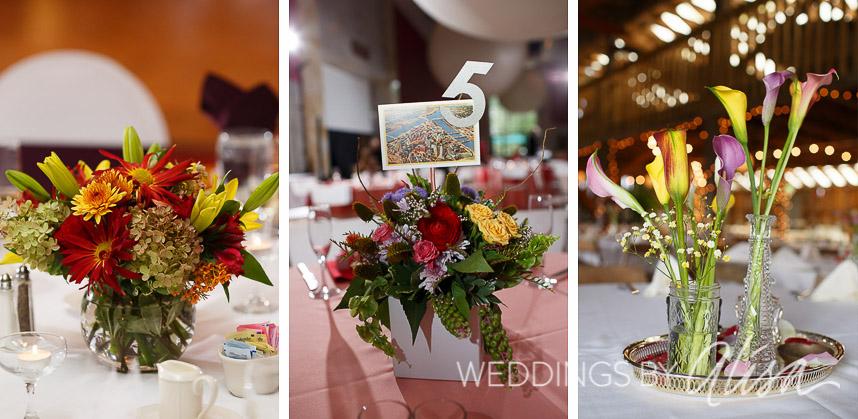 best of  short wedding reception centerpieces, Natural flower