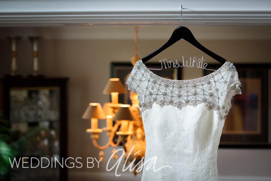 Cap-sleeve wedding dress