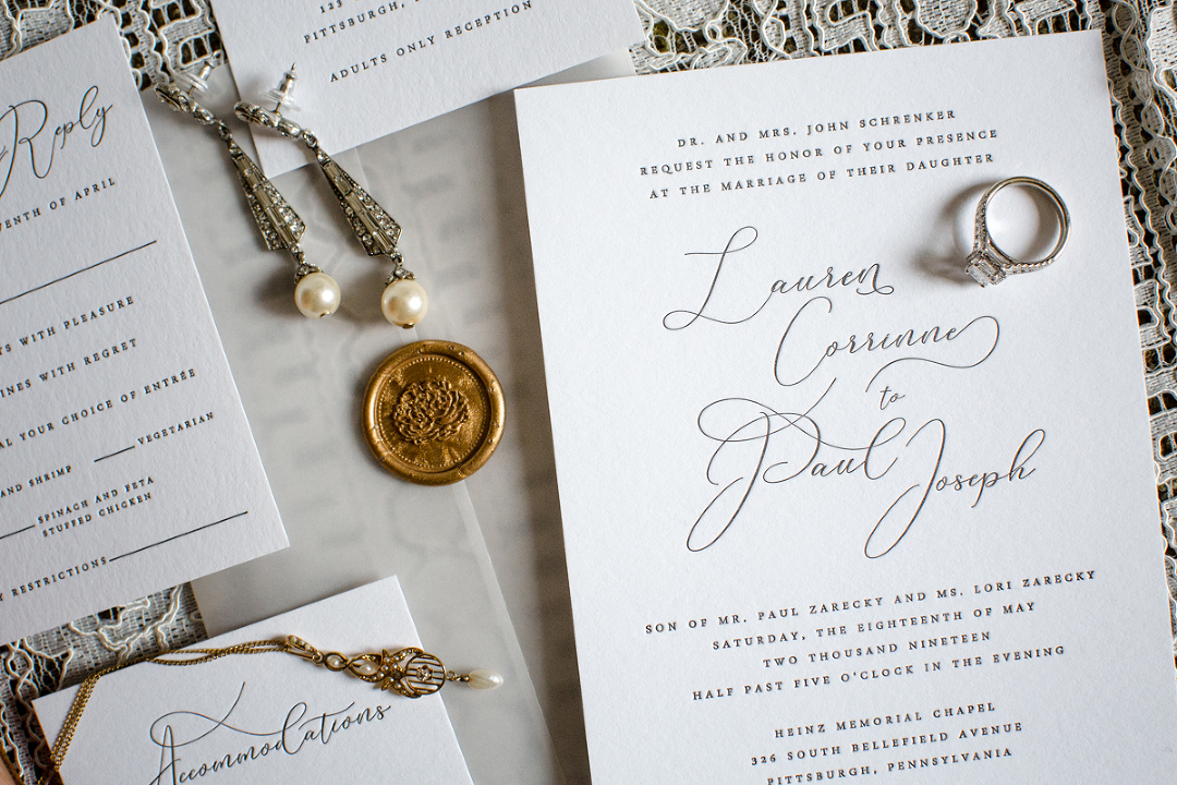 Wedding invitation for Heinz Chapel Wedding