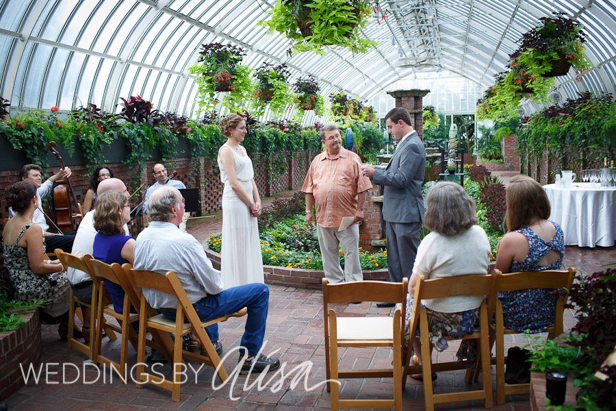 Phipps Conservatory Wedding Ceremony Pittsburgh