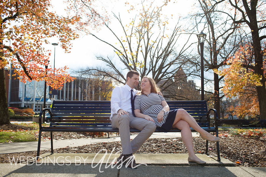 Engagement session at WVU Mountainlair