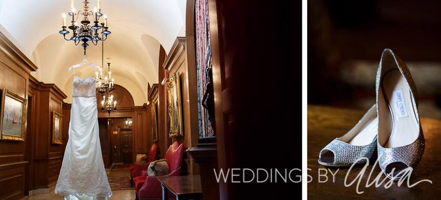 Wedding dress in Duquesne Club