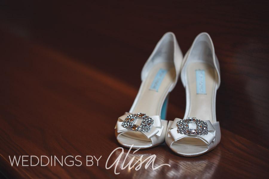 Sparkly bride high heels
