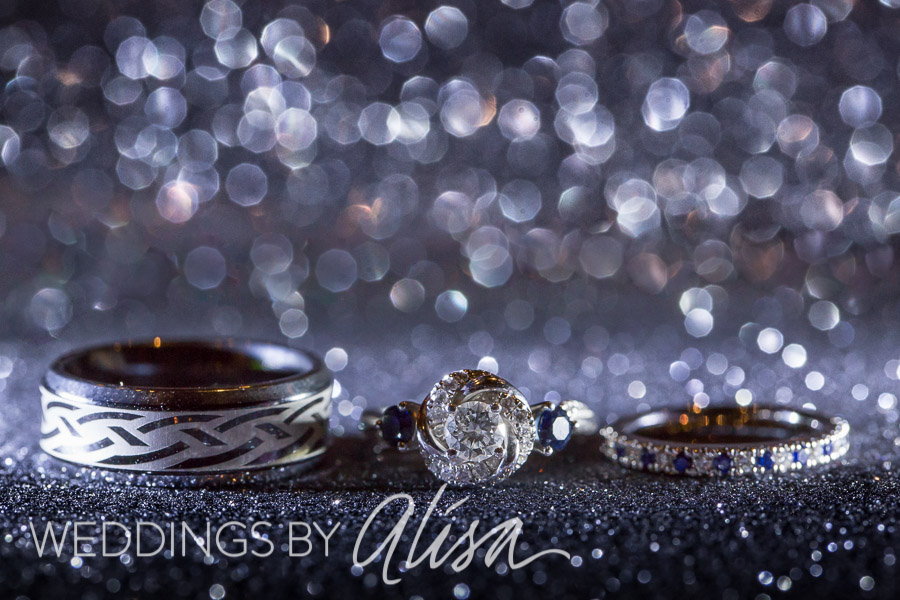 Glittery and sparkly wedding engagement rings