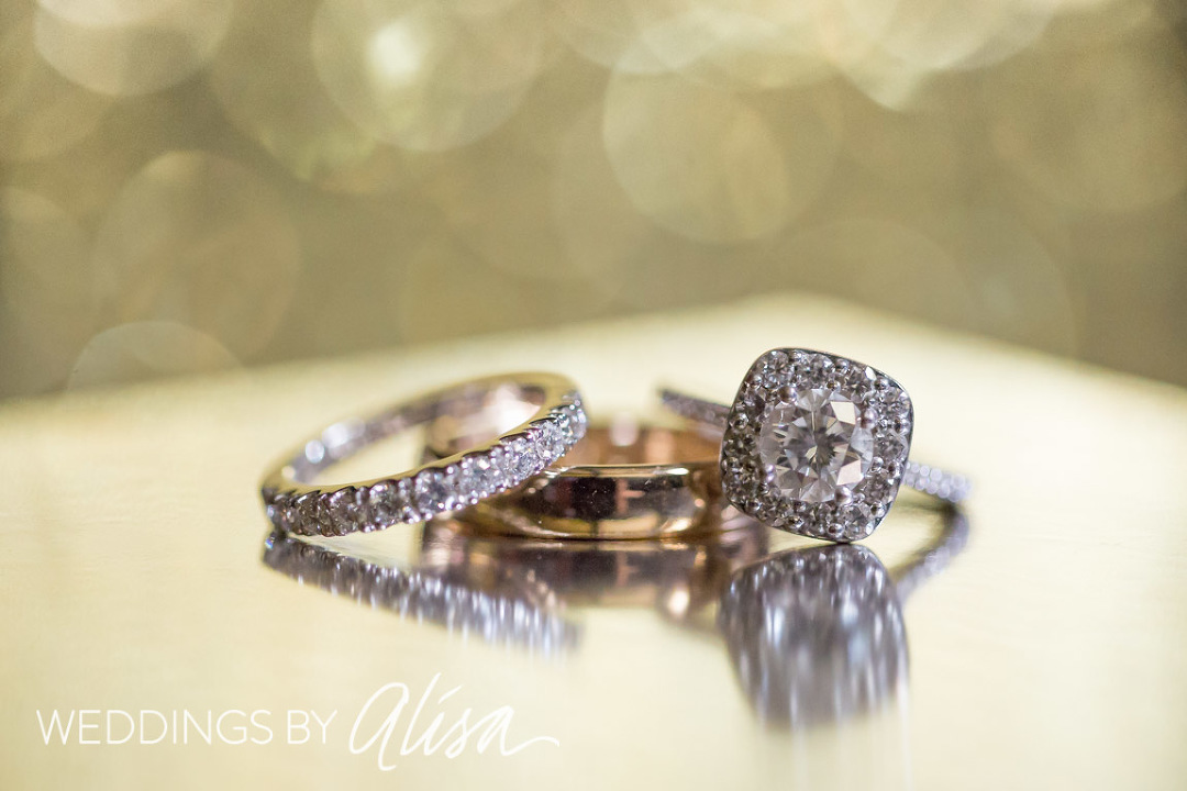 Glittery sparkly carat ring shot