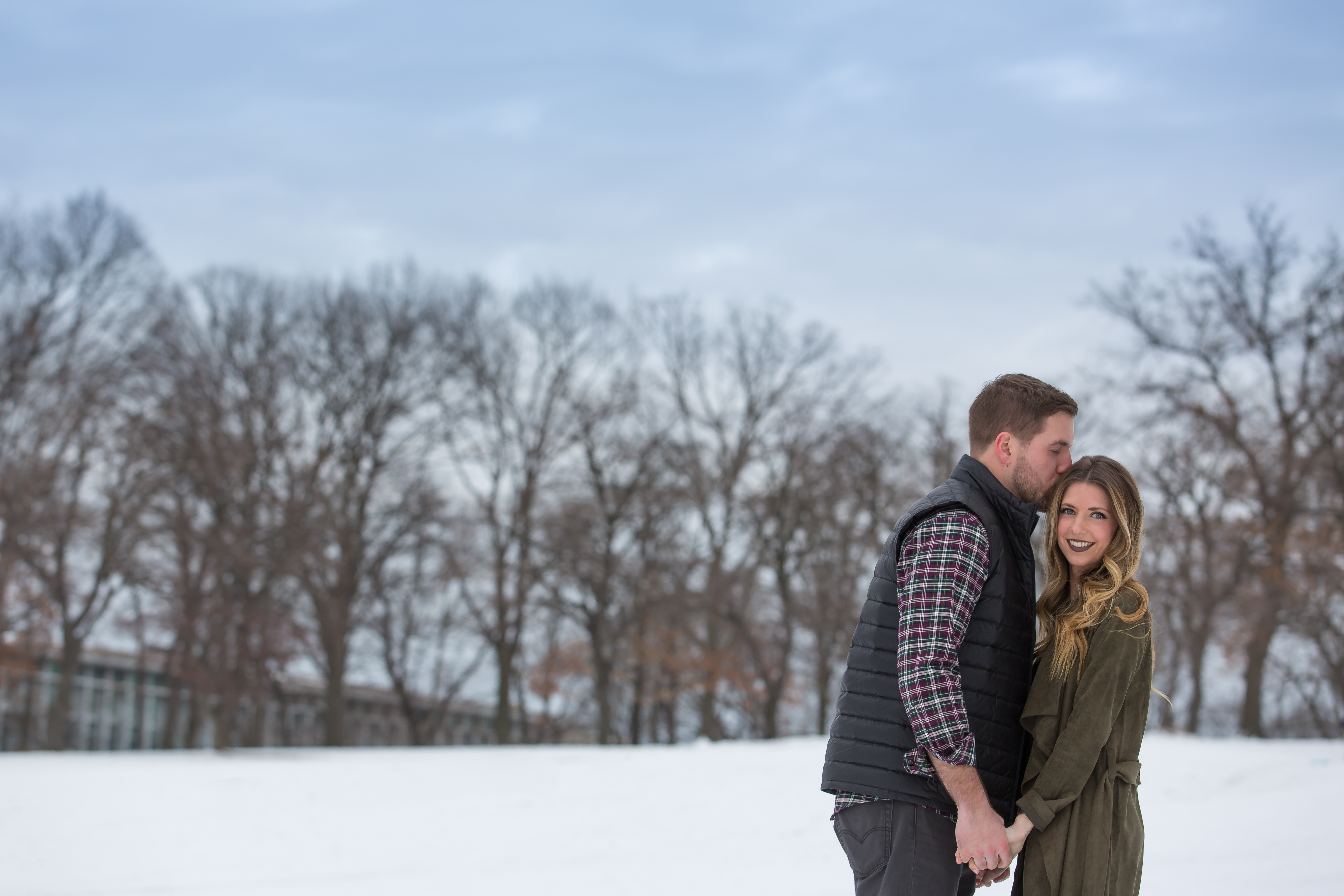 Engagement Snow Photos in Pittsburgh