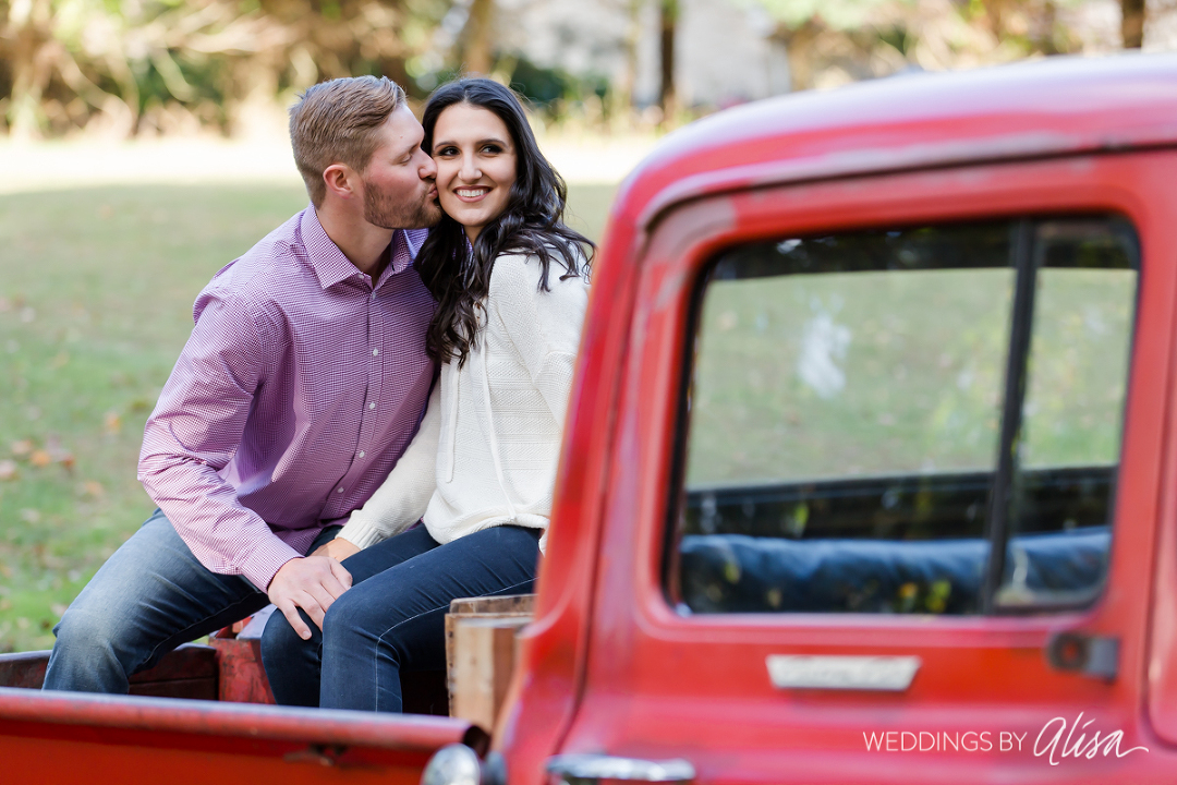Truck in Engagement Photos